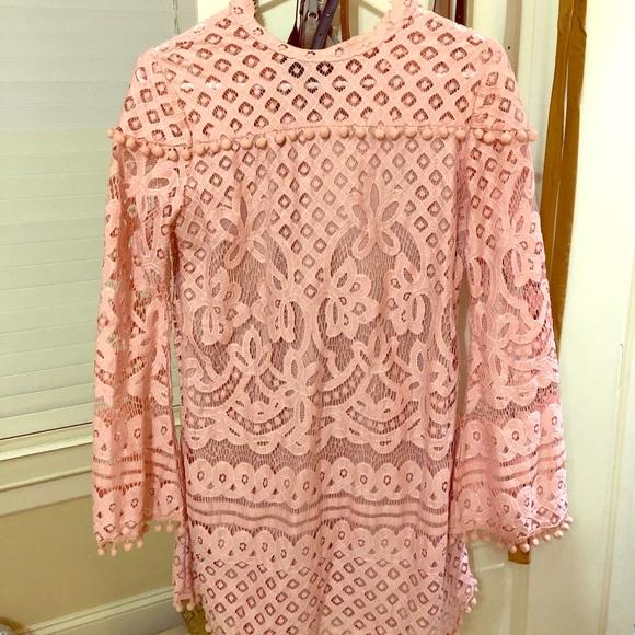 SHEIN Dresses & Skirts - Pink dress with pom pom detailing